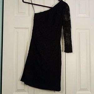 Express one shoulder lace dress size 0